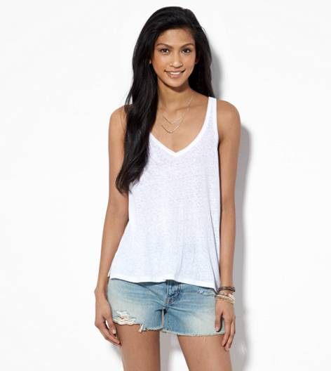 White  AE Real Soft® Favorite V Tank