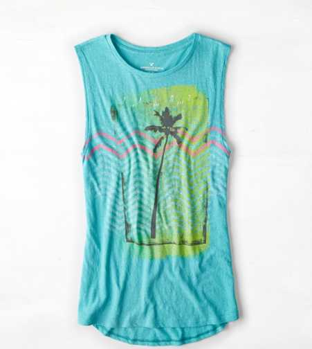 AEO Tropic Graphic Muscle Tank