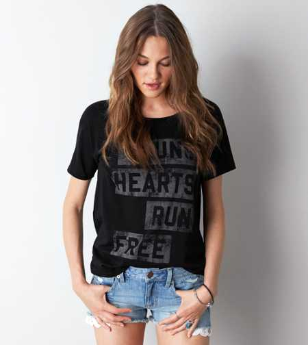 AEO Young Hearts Graphic T-Shirt - Buy One Get One 50% Off