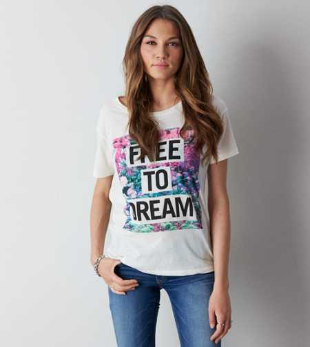 AEO Dream Graphic T-Shirt - Buy One Get One 50% Off