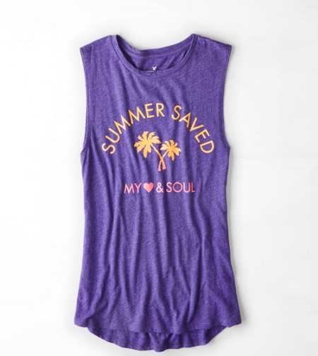 AEO Graphic Muscle Tank