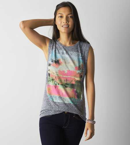 AEO Tropic Graphic Muscle Tee
