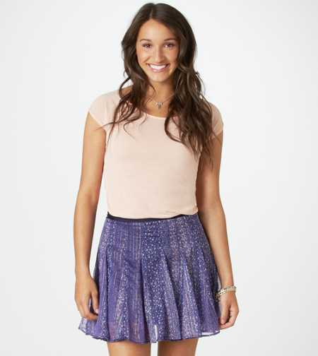 AE Printed Circle Skirt