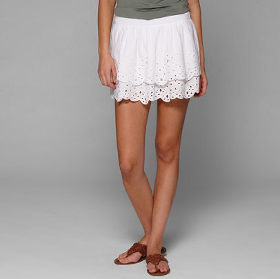 Clearance - AE Boho Eyelet Skirt - American Eagle Outfitters