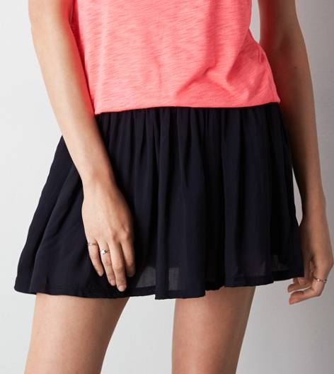 True Black AEO Soft Circle Skirt