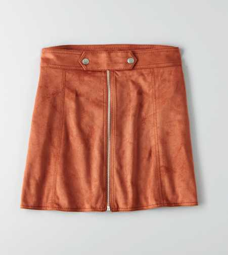AEO Faux Suede Mini Skirt