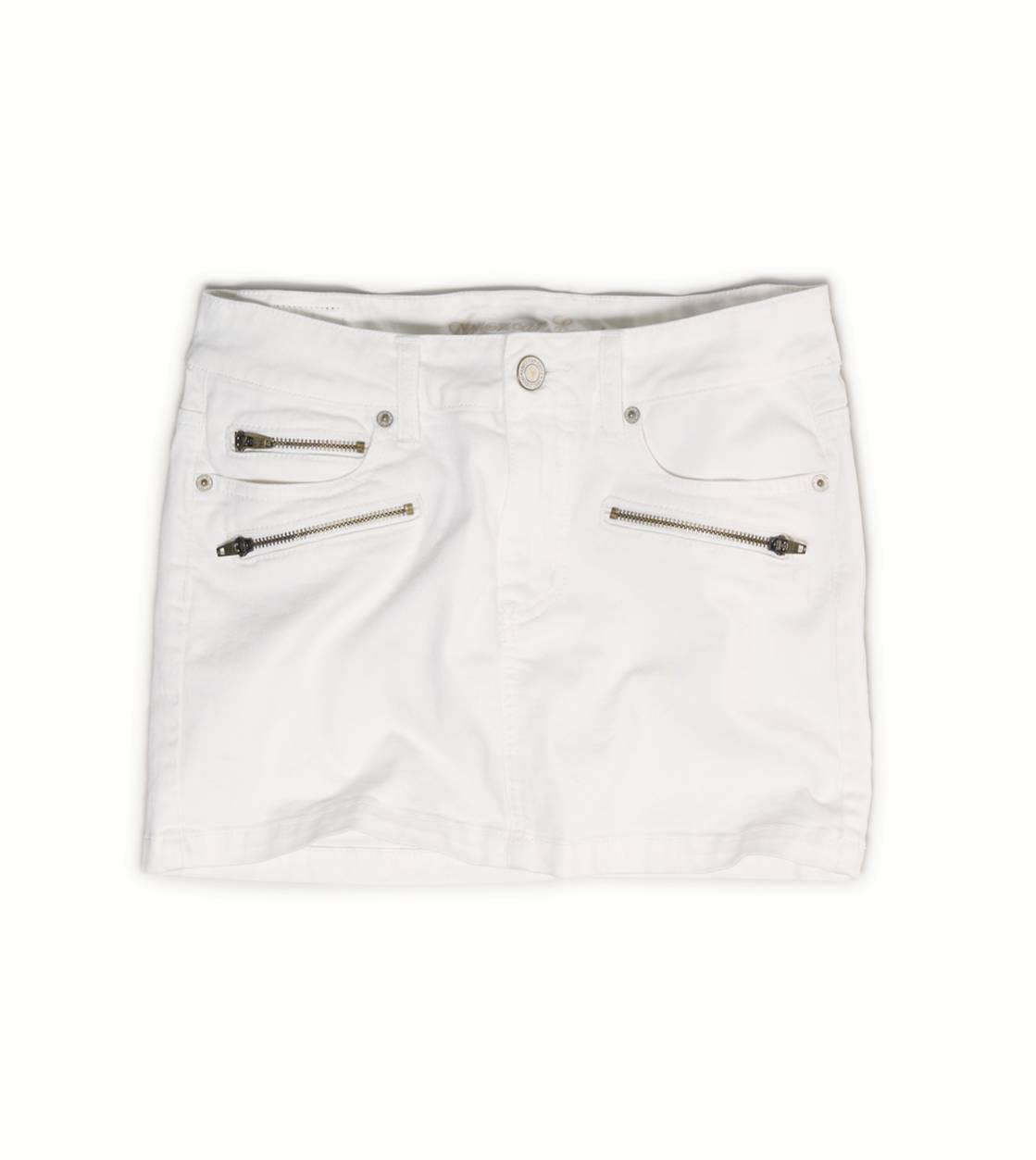 Chalk AE Zip Pocket Denim Mini Skirt