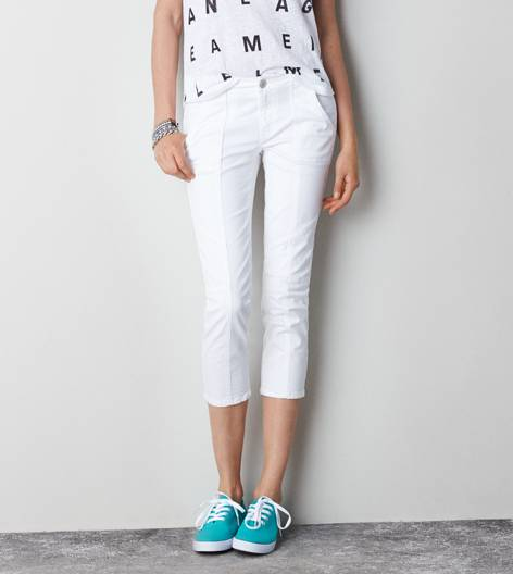 White  Utility Jegging Crop