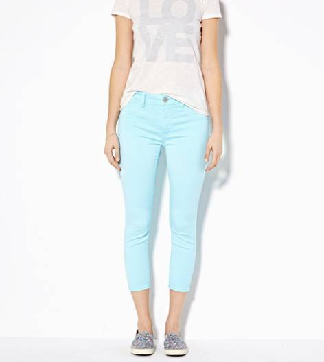 Dream Blue AE Hi-Rise Jegging Crop Pant