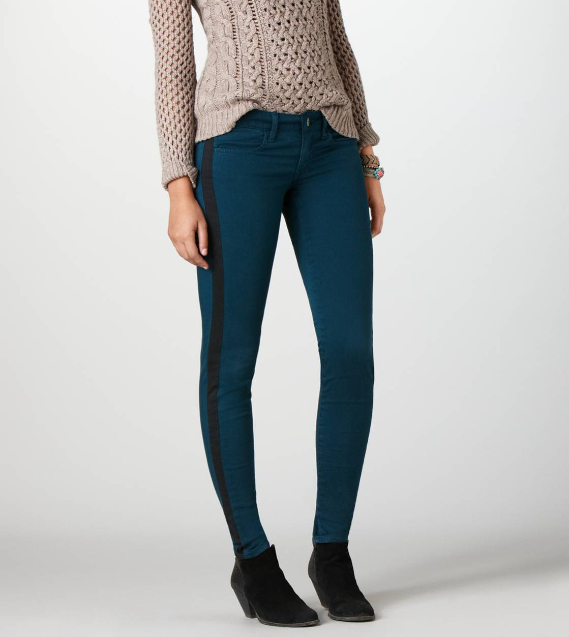 Deep Opal Sateen Jegging