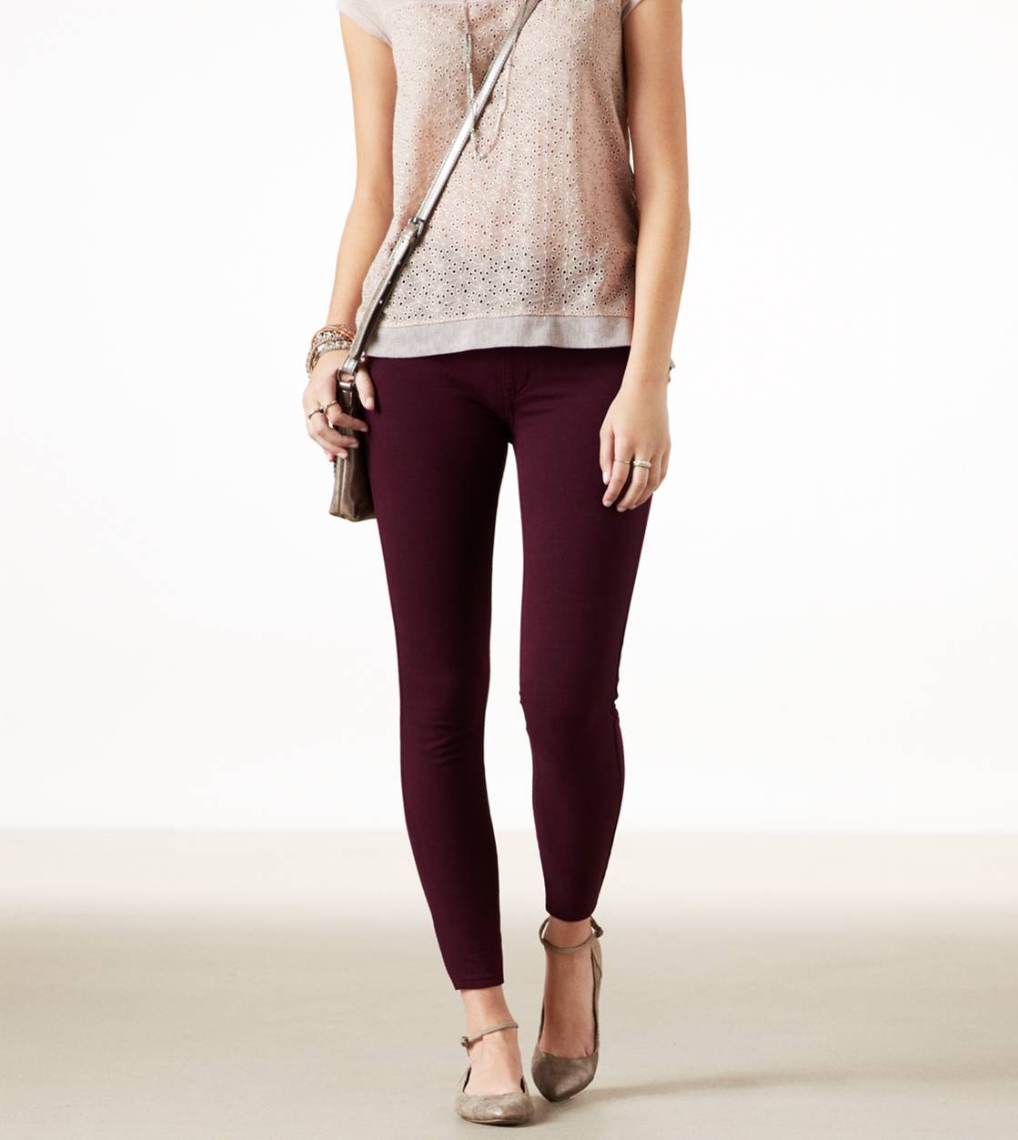 Crushed Berry AE Knit Jegging
