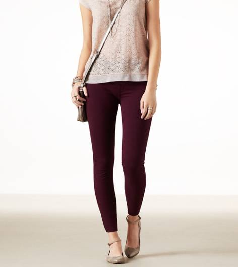 Preppy Red AE Knit Jegging