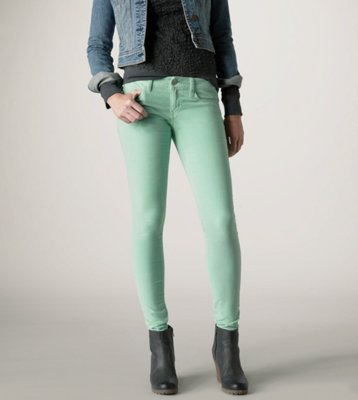 Fashion style Green Mint skinny jeans urban outfitters pictures for lady