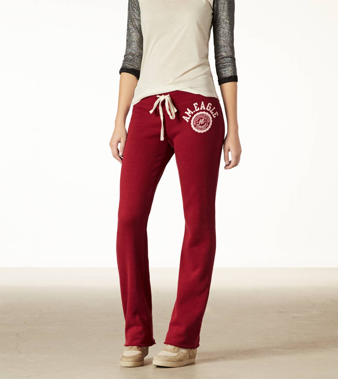 Red AE Real Soft Heritage Fleece Pant