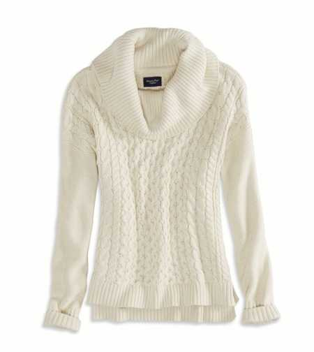 AE Real Soft Cabled Hi-Lo Sweater