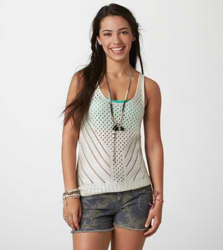 AE Shine Open Stitch Tank
