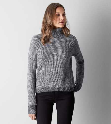 AEO Heathered Turtleneck Sweater