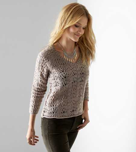 AEO Open Knit V-Neck Sweater