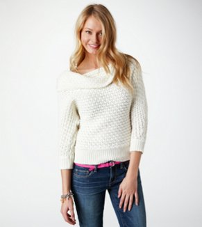 AE Knit Cowl Sweater