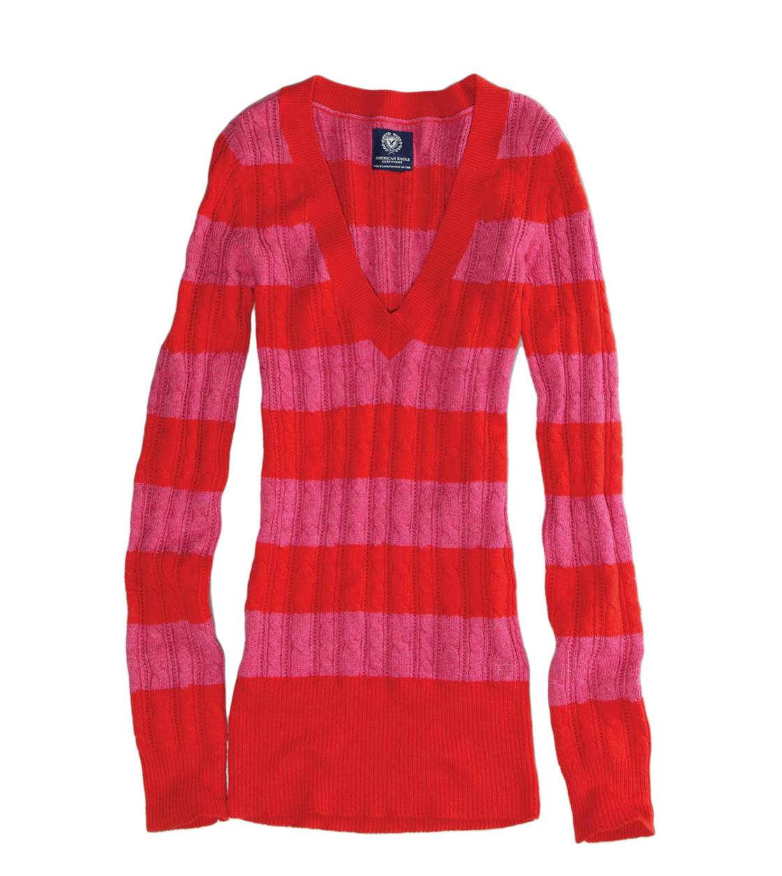 Pink AE Striped Sweater