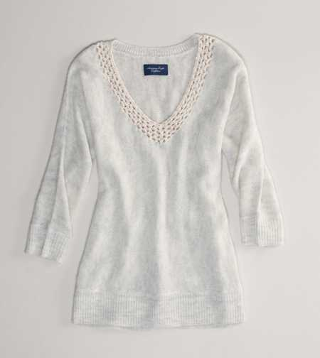 AE Chiffon Trim Sweater