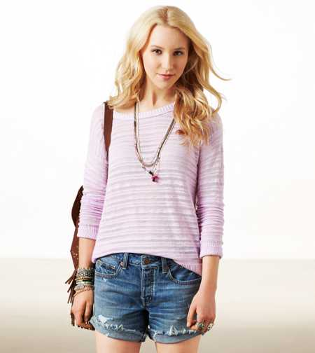 AE Striped Knit Sweater
