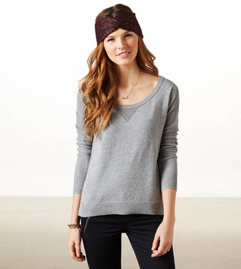 Heather Grey AE Real Soft Fireside Sweater