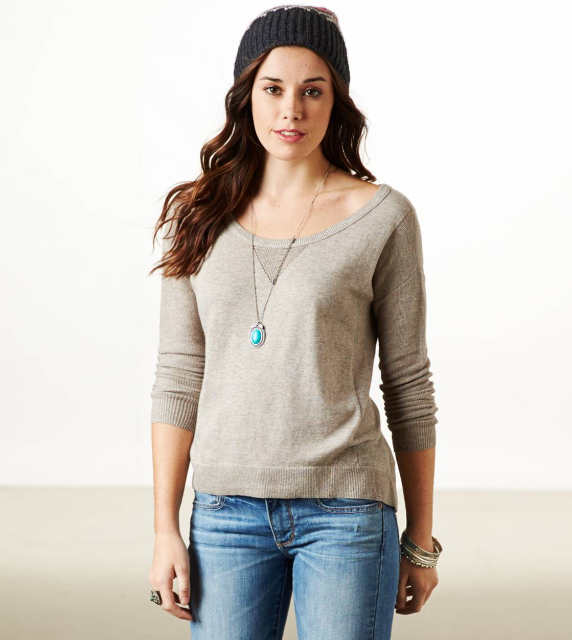 Brown Heather AE Real Soft Fireside Sweater
