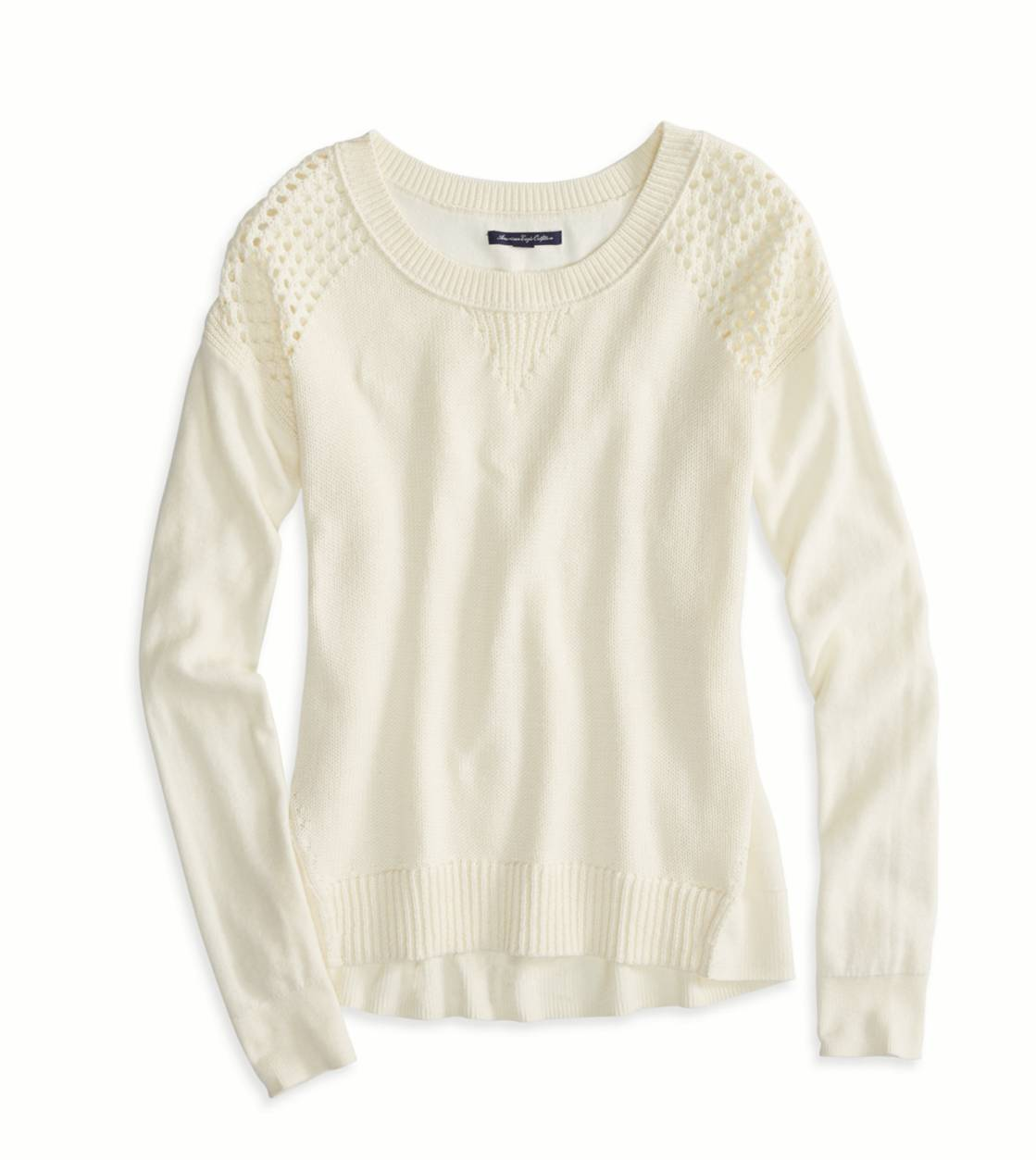 Ivory Bead AE Softest Crew Neck Sweater