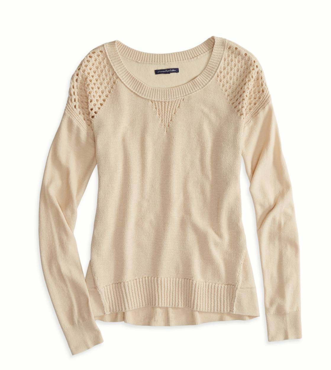 Frosted Taupe AE Softest Crew Neck Sweater