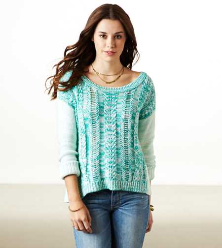 AE Cable Marled Sweater