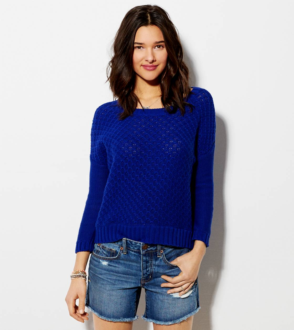 Cobalt Blue AE Chunky Sweater