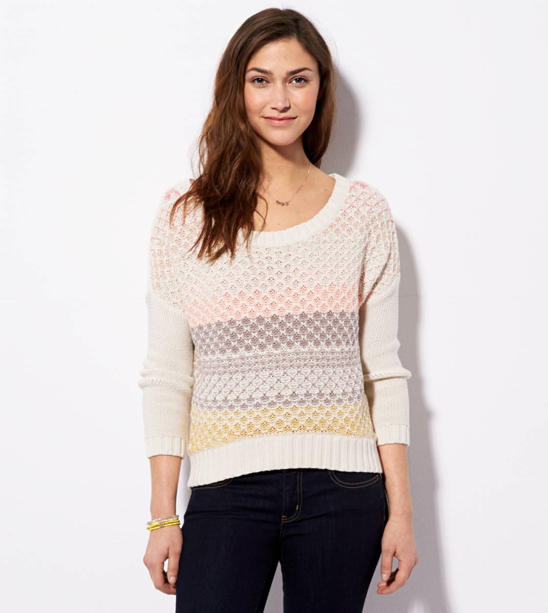 Chalk AE Chunky Striped Sweater