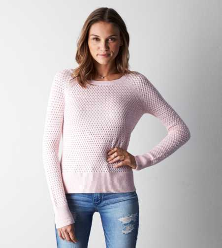 AEO Zip Back Crew Sweater - Buy One Get One 50% Off