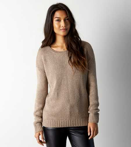 AEO Shimmery Crew Sweater