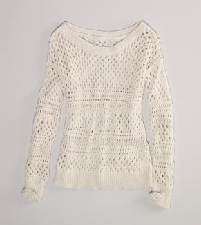 AE Open Knit Shimmer Sweater