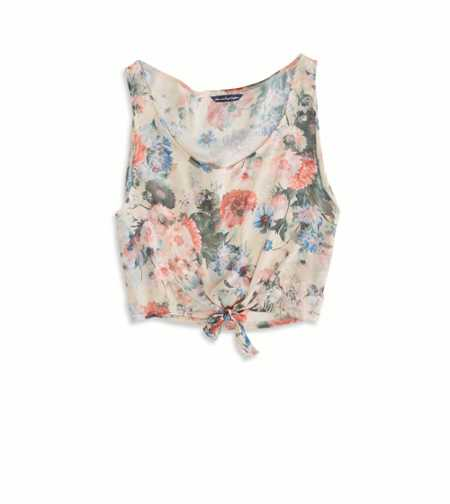 AE Effortlessly Chic Crop Chiffon Tank - Limited Edition
