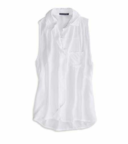 AE Effortlessly Chic Button Down Tank - Limited Edition