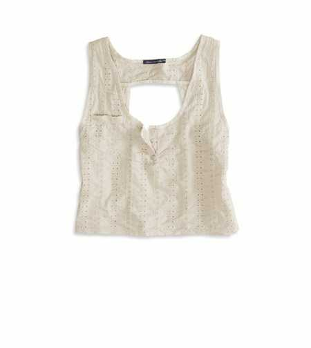 AE Effortlessly Chic Crop Eyelet Tank - Limited Edition