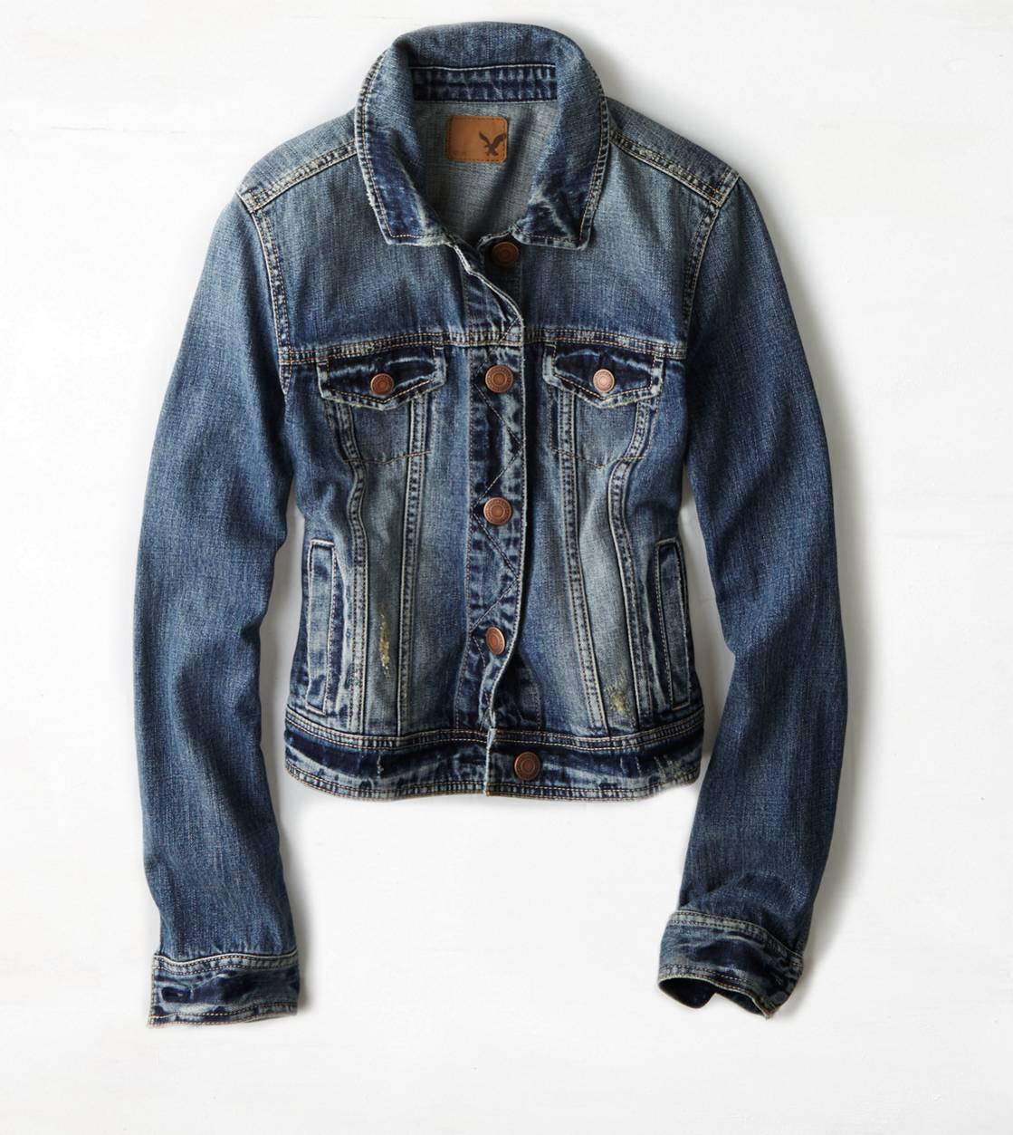 Medium Rinse AE Faded Denim Jacket