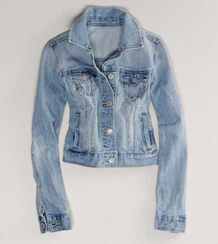 AE Embroidered Denim Jacket - Check Out the Back!