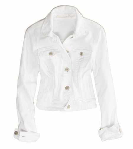 AE White Denim Jacket