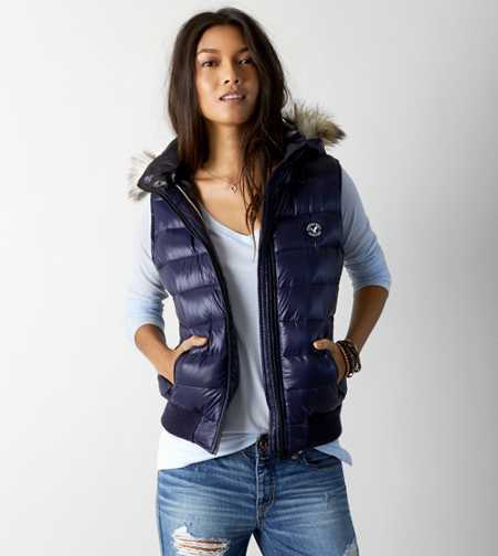 AEO Down Puffer Vest - Buy One Get One 50% Off