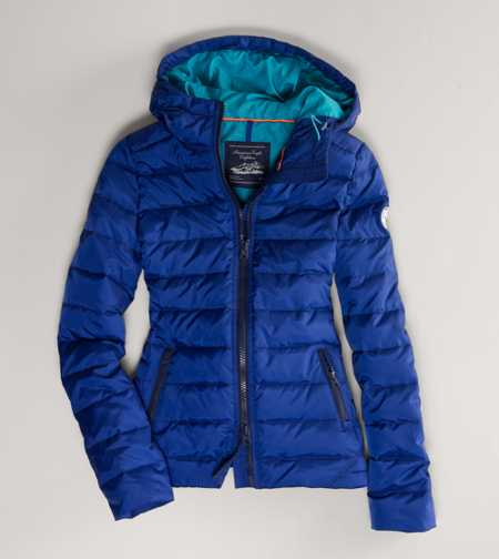 AE Hooded Puffer Coat - Genuine Down Filling