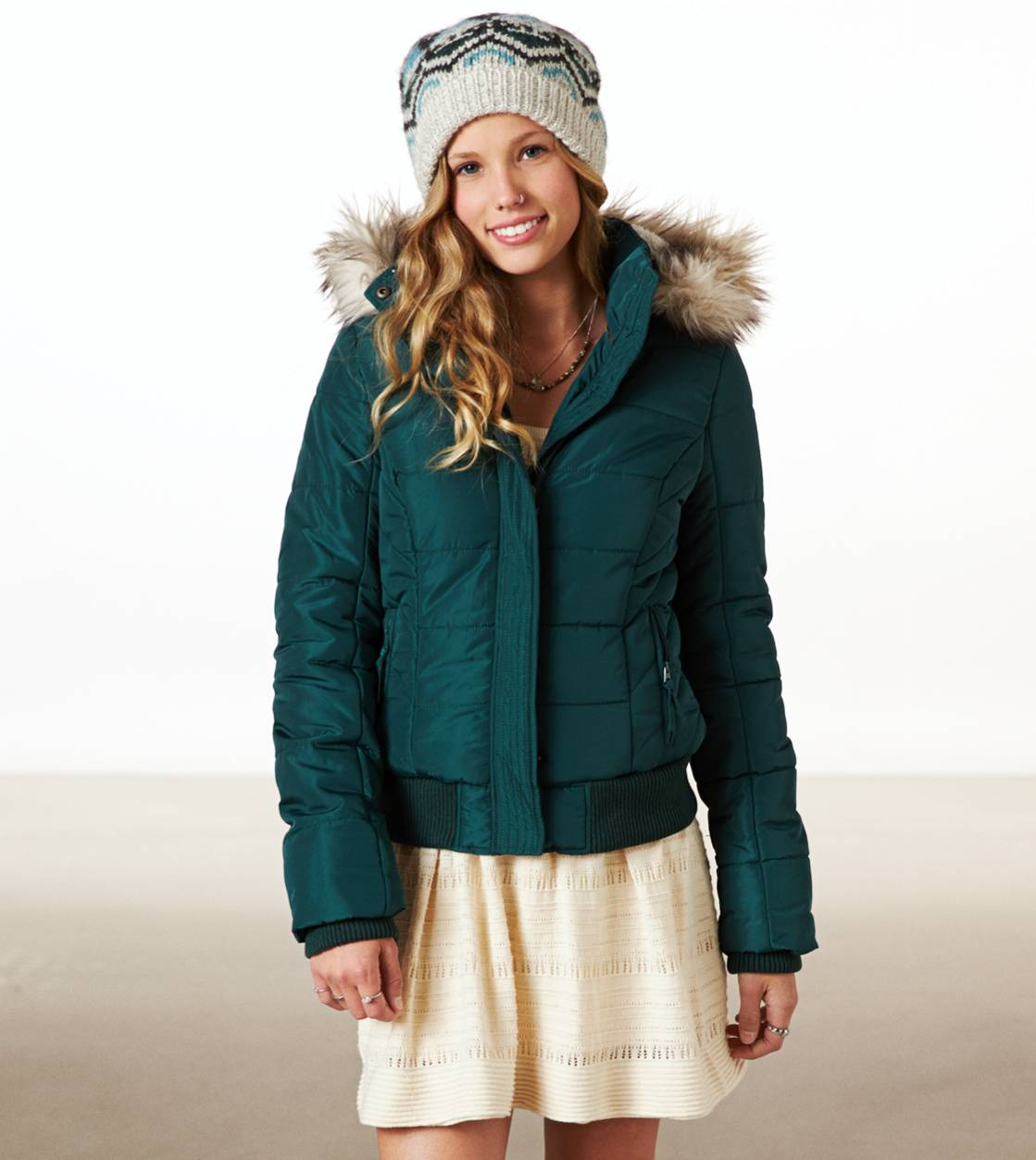 Emerald AE Cropped Puffer