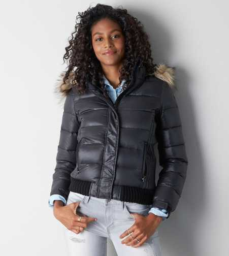 AEO Get Down Hooded Puffer Jacket