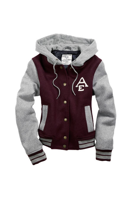 AE American Eagle Women s Varsity Jacket from ae.com
