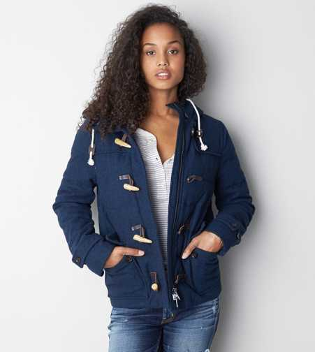 AEO Quilted Duffle Coat