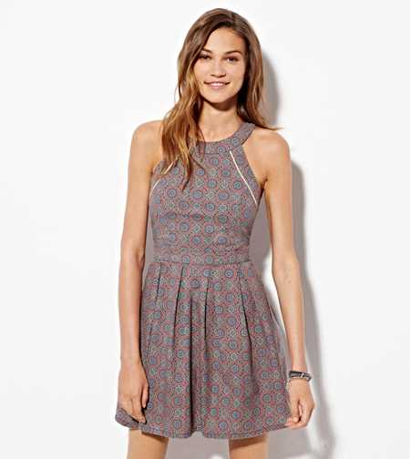 AE Printed Halter Dress - Buy One Get One 50% Off