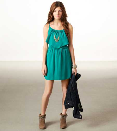 AE Ruffled Chiffon Dress
